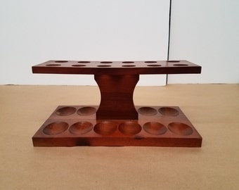 Vintage Wooden Pipe Holder that Holds 12 Pipes