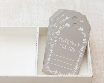 """10 Paper tag """"Especially for you"""""""
