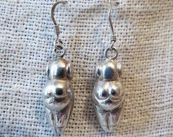 """Fertility Fetish Southwestern Sterling Silver Dangle Earrings 1"""""""