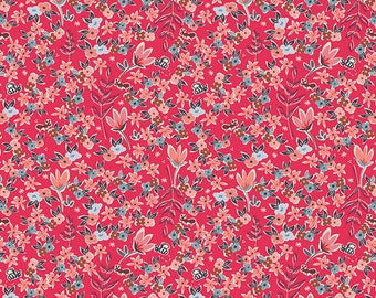 KNIT Garden of dreams Rouge from the Charleston collection by Amy Sinibaldi for Art Gallery fabrics - K-41705