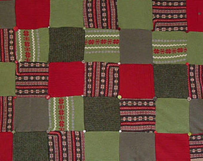 "My ""Hot Peppers!"" Wool Sweater Quilt — I can make one similar for you!"