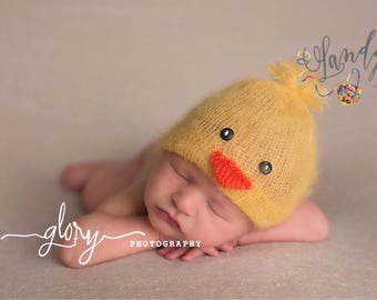 Chick hat, baby chick hat, newborn hat, infant  hat, photo prop, newborn prop, newborn photo prop, baby boy, baby girl, baby hat, infant hat