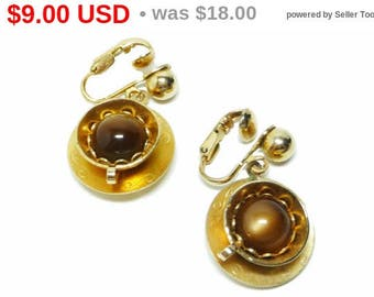Cup of Coffee Earrings - Tea For Two clip ons by SAC - Sarah Coventry - Vintage Teacups
