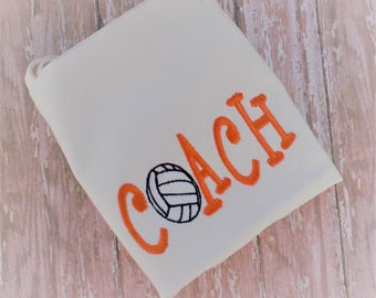 Embroidered Volleyball Coach Bag - Volleyball Bag - Ready to Ship - Volleyball Coach Tote