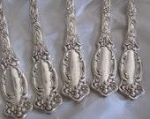 Silverware - Set of 5 Ornate Silver Plate Dinner Forks - Violet 1905  - RARE