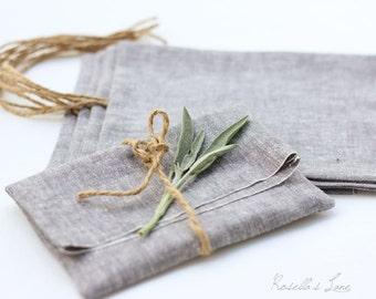 Set of 10 grey linen blend fabric usb packaging 4 x 6 photo print packaging