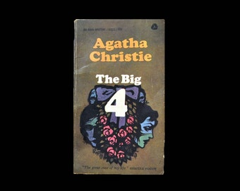 1960s Paperback: The Big 4, by Agatha Christie. Four. Hercule Poirot. Avon Books. Book. Mystery. Thriller.