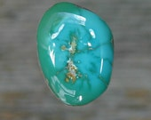 Turquoise cabochon Blue Gem mine nice two tone cab,  B-122b