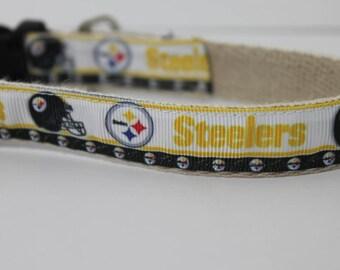 Pittsburg Steelers hemp dog collar or leash
