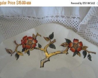 ON SALE Antique Plate Late 1800s Transferware Asian Inspired Polychrome Staffordshire England Collectible George Jones