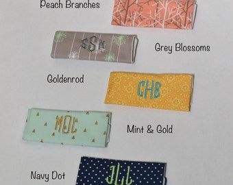 Monogrammed Luggage Handle Wrap - Set of 2 in Your Choice of Patterns - Luggage Spotter, Handle Wrap, Stocking Stuffer