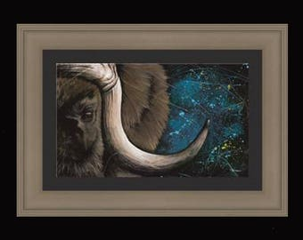 PRINT or GICLEE Reproduction -- Musk Ox Illustration From My Children's Book -- 12 x 18 -- Only 100 Signed Available  -