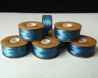 SALE  -  Turquoise Nymo Nylon Thread -  Unsized - Strong Beading Thread - Weaving Thread - Sewing Thread - Qty 3 Bobbins