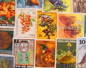 Papua Don't Preach 50 Premium Vintage Papua New Guinea Postage Stamps Oceanian Port Moresby South Pacific Tropical Scrapbooking Philately
