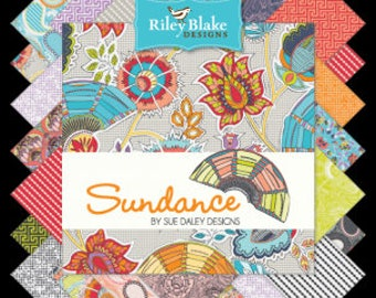 "Sundance Charm Pack Stacker by Riley Blake Fabrics, 42 Pieces, 5"" squares, bin H"