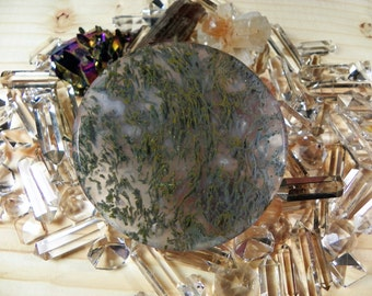 Moss Agate Cabochon (AGT2635) This is a must for any collector