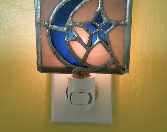 Hand-made Stained Glass Phish Farm House Nightlight Light