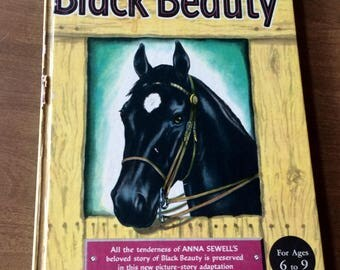 BLACK BEAUTY by Anna Sewell adapted by Eleanor Graham Vance Illus by Phoebe Erickson 1949 Hard Cover