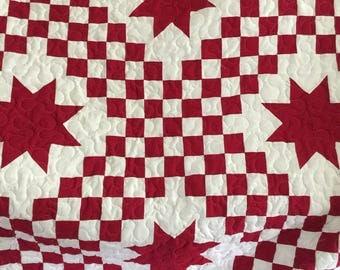 Red star quilt | Etsy : red star quilt - Adamdwight.com