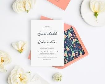 Wedding Invitation Sample - The Scarlett Suite
