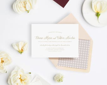 Wedding Invitation Sample - The St. Julian Suite
