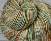CHINESE GARDEN: Superwash Merino Wool-Nylon - Fingering / Sock Weight Yarn - Hand dyed sock yarn - Indie dyed - Variegated green sock yarn