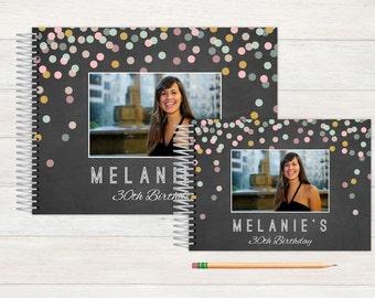 Birthday Guest Book, Birthday Guestbook, Birthday, Custom GuestBook, Personalized GuestBook, Birthday Registry Book, chalkboard