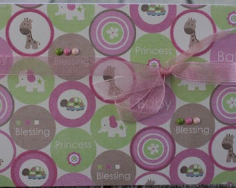 Baby Girl Congrats Card, Newborn Baby Congrats, New Baby, Baby Blessings Card, Baby Shower Card
