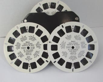 DALE EVANS Queen of the West Vintage Viewmaster Reels 944 A B C Sawyers  1955 Roy Rogers TV Show