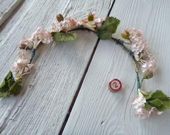 Vintage Millinery Flower Garland Crown (Ref: A-4752/2 Box 2)