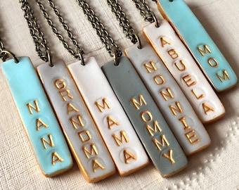 Mother's Day 2017, Mama Bar Necklace, Mom, Mommy, Grandma, Grammy, Grandmother, Nana, Nonna, Nonnie,Abuela, Oma, YiaYia, Aunt, Gigi, Maw Maw