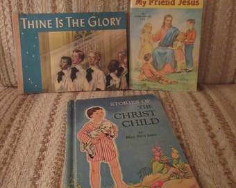A Set of 3 Vintage Christian Children's Books