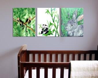 Fiver Bunny Watercolor Painting - Rabbit Watership Down Art Print