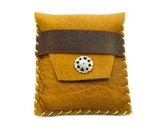 Heirloom Leather Card Case in Honey Ginger