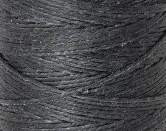 Tools & Supplies-4-Ply Irish Linen Cord-Waxed-Charcoal Grey-Crawford Threads-Quantity 100 Yards