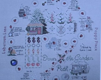Down the Garden Path - Lynne Nicoletti - A Beaded and Embroidered Board Game