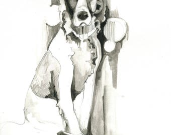 Black and White dog portrait