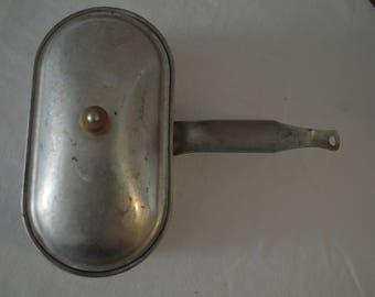 Vintage Aluminum Double Egg Poacher, 1950's