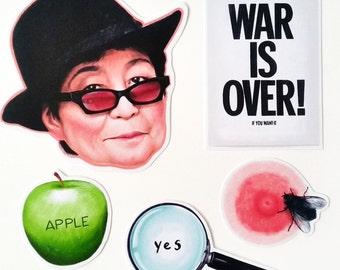 Yoko Ono -  5 Sticker set