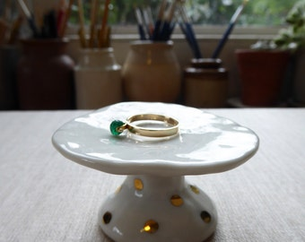 Gold Dot Pedestal Ring Holder since 2015 SALE