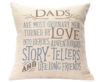 Father's Day Gift - Decorative Pillow - First Father's Day - Father of the Bride - Father of Groom - Gift for Dad - New Dad Gift