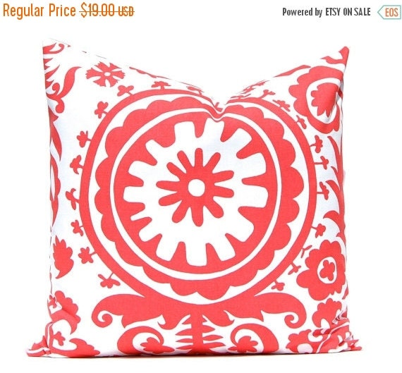 15% Off Sale Coral Pillow Covers, Beach Decor, Decorative Pillows, Throw Pillow Covers, Accent Pillows 20 x 20 Inches Bedroom Pillow Covers