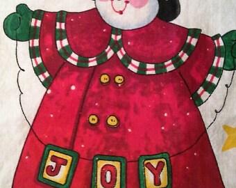 Daisy Kingdom Fabric Panel, Joyful Snowman Door Panel  X0699