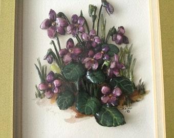 Violet Paper Tole Picture