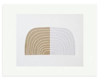 Retro art, Abstract Screenprint, 70's geometric, original, handmade art. Mid Century modern, Emma Lawrenson