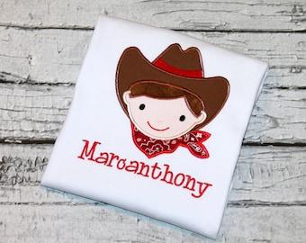Boy's Cowboy  Shirt, Cowboy Birthday Shirt, Personalized Cowboy, Rodeo Shirt, Farm Birthday, Cowboy Party, Western Birthday