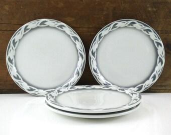 Empress Dinner Plates, Set of 4 / Vintage Restaurant Ware / Edward Don Co
