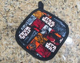Handmade Quilted Pot Holder - Star Wars