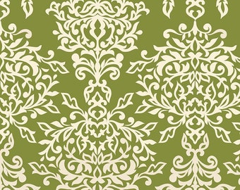 Botanique Damask in Green by Riley Blake - Half Yard