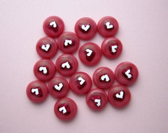 Fused Glass Mini Cabochons - Lampwork Beads - Fused Glass - Findings - Glass Beads - Stained Glass - Heart Beads 3853